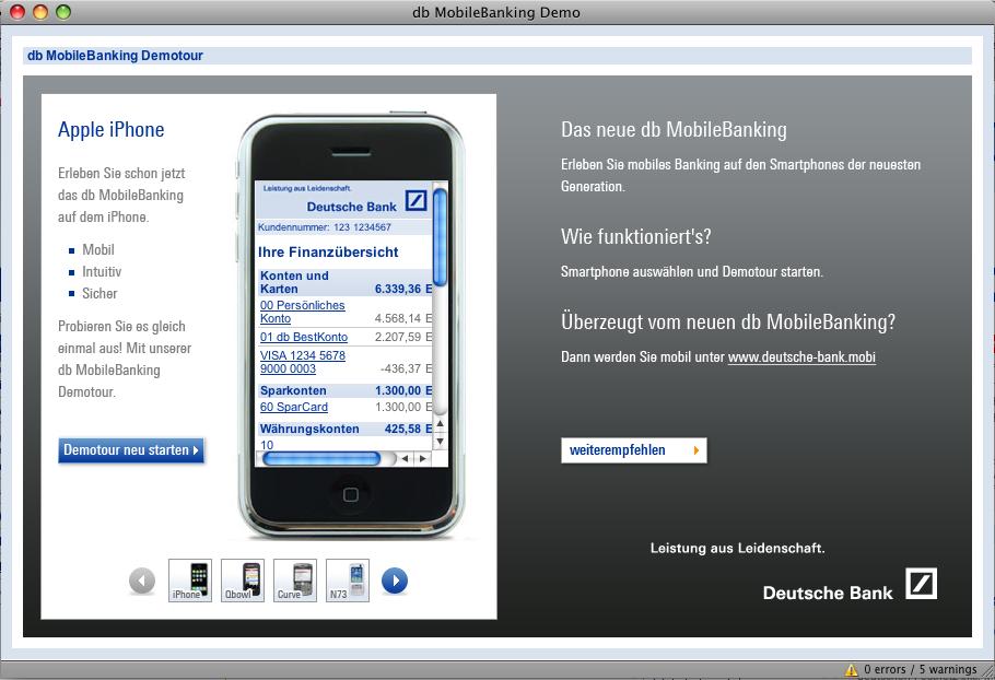 Mobile Banking unter .mobi TDL ?